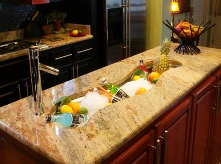 Long River Island Kitchen Sink Ideas