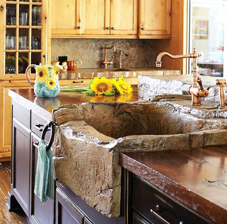 Stone Farmhouse Kitchen Sink