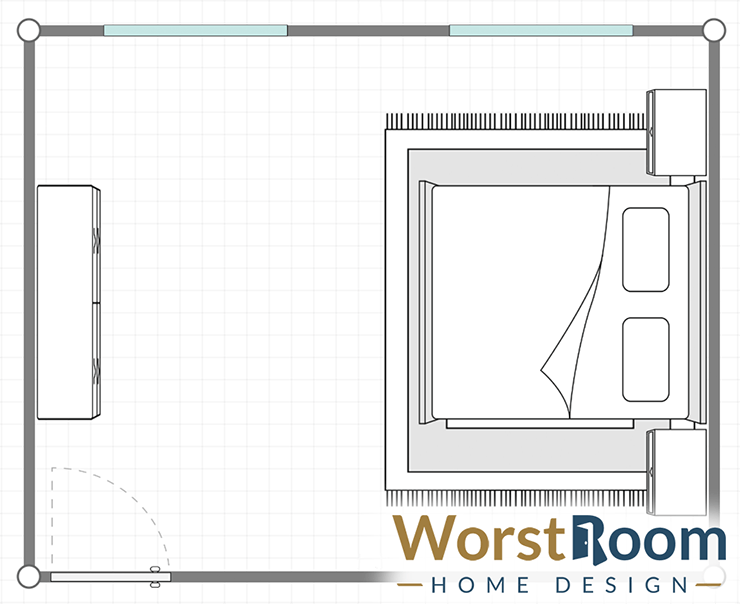 bedroom feng shui layout #2