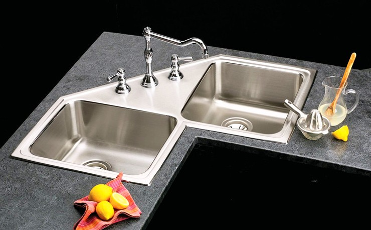 double corner kitchen sink