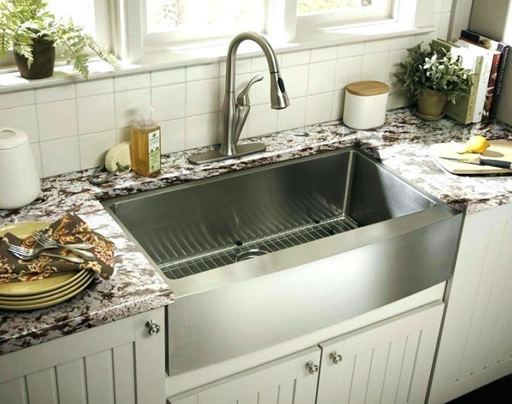 huge single steel kitchen sink