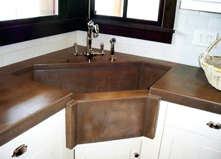 large single bowl corner kitchen sink
