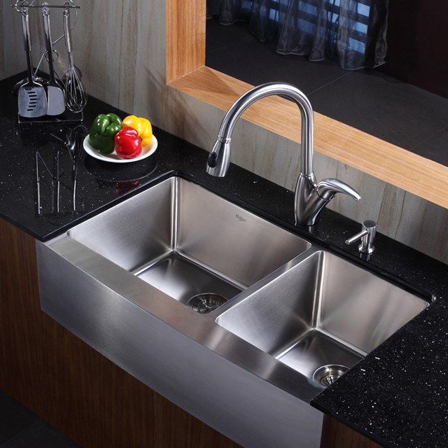 modern dual stainless steel kitchen sink