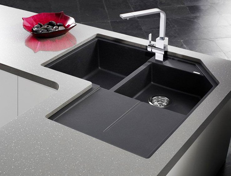 modern farmhouse kitchen sink with drainage