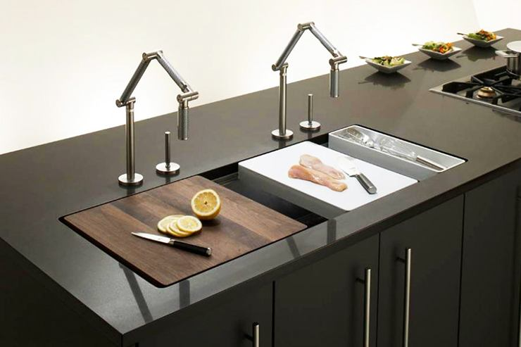 modular and removable cooking kitchen sink