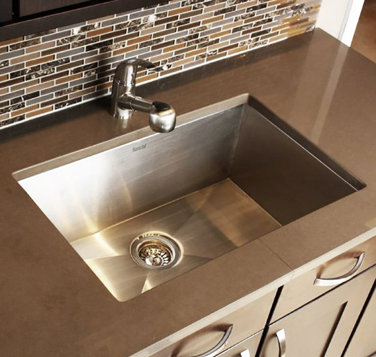 simple modern stainless steel kitchen sink