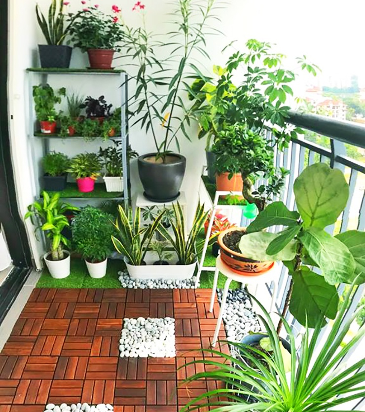small apartment balcony garden