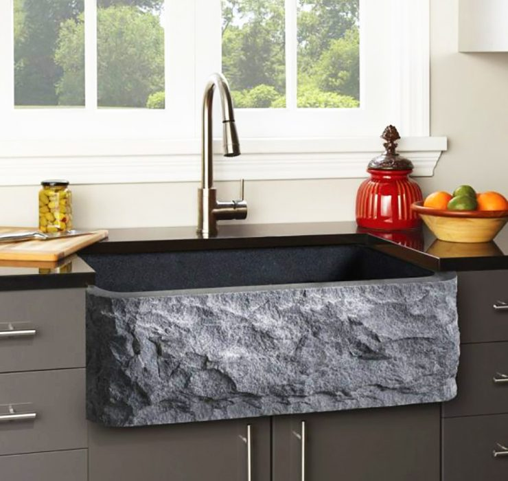 stone granite deep wide kitchen sink