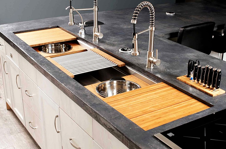 tiered cooking kitchen sink