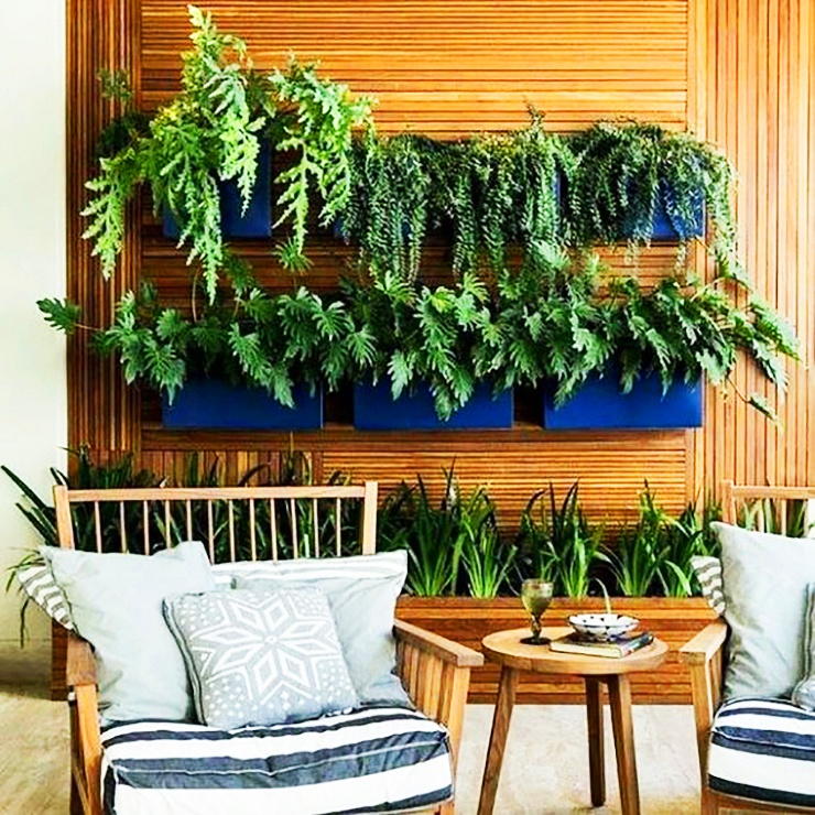 wall and floor garden planters indoors apartment
