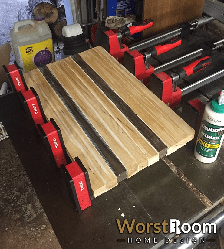 glue up the cutting board