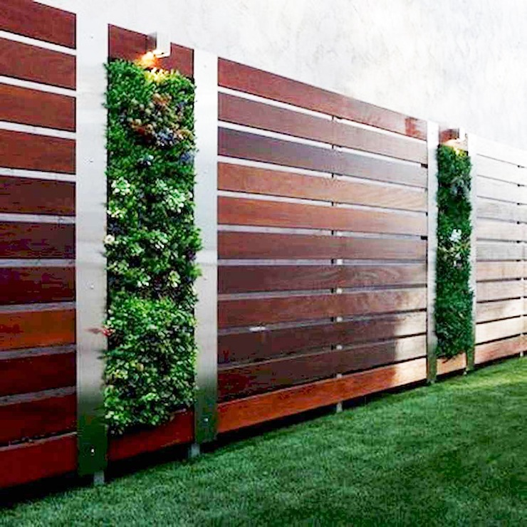 Horziontal Slat Decorative Rail Fence