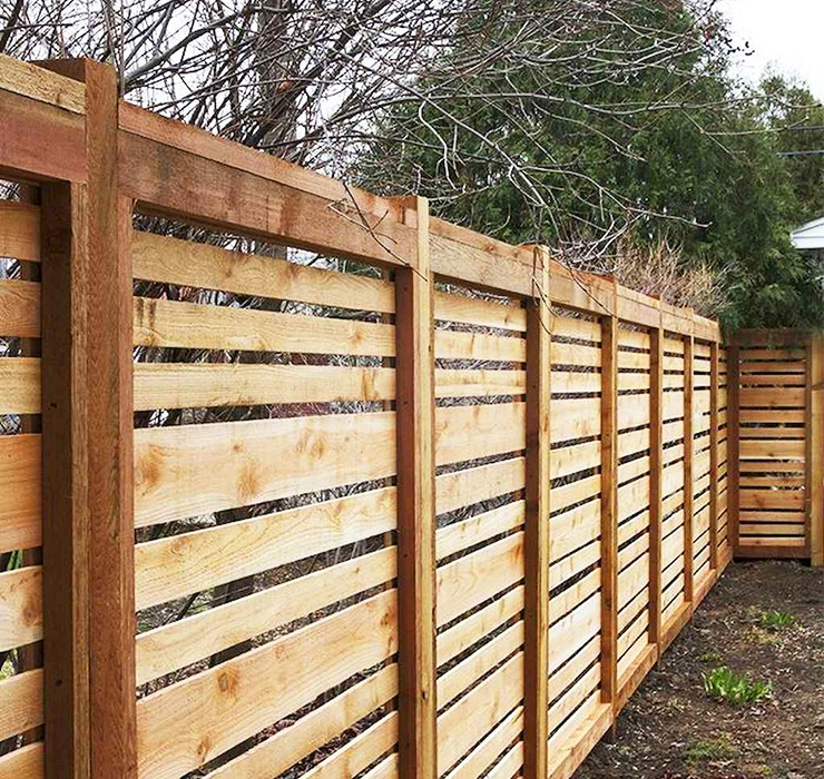 flat top privacy fence