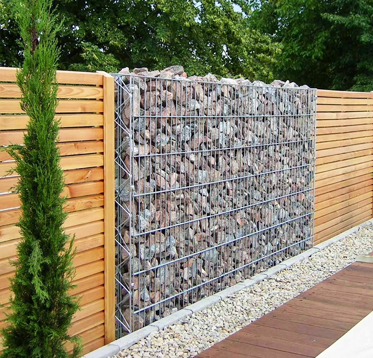gabion wall fence ideas