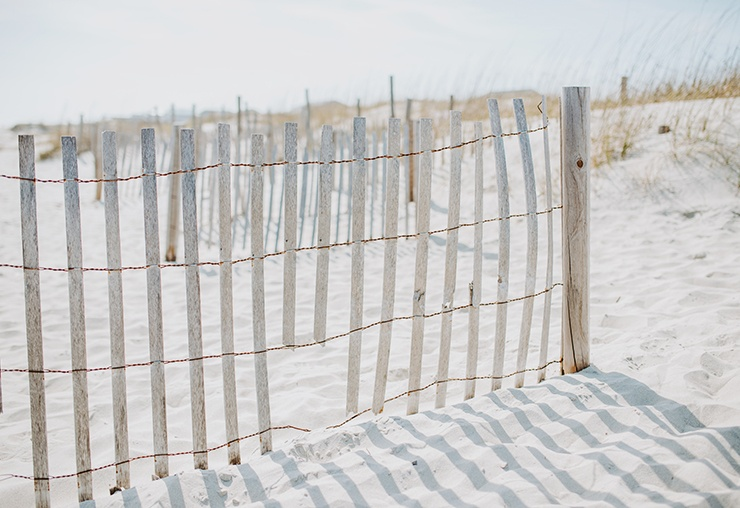 simple wire fence with wood posts