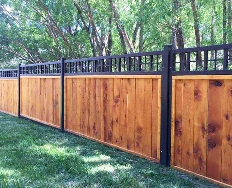 wood lattice top fence