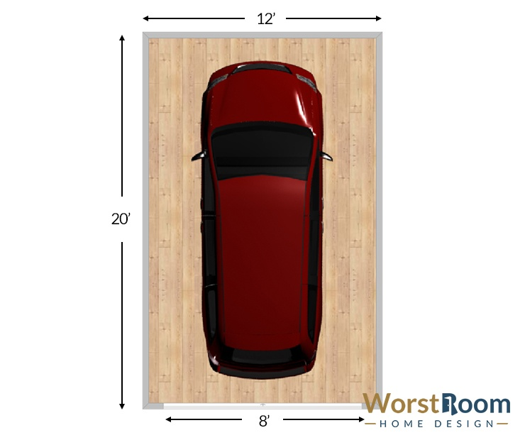 Standard Garage Size Diagrams Dimensions Up To 4 Car Garages Wr
