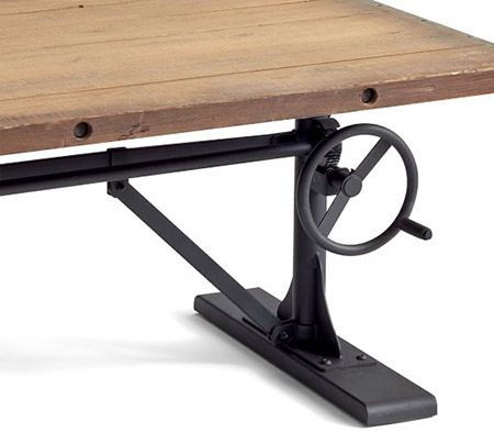 diy adjustable standing desk crank
