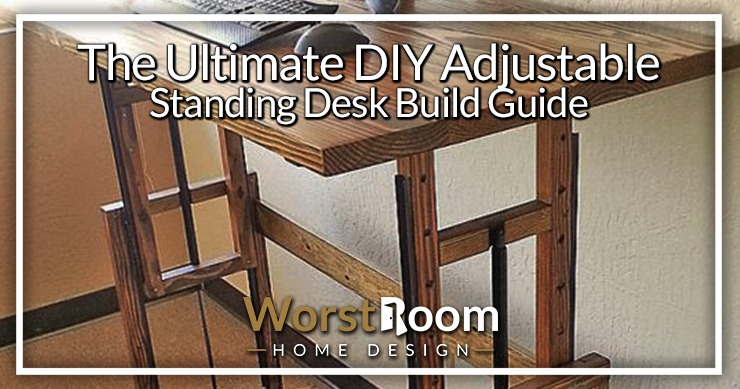 diy adjustable standing desk