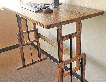 diy adjustable standing desks for sit or stand
