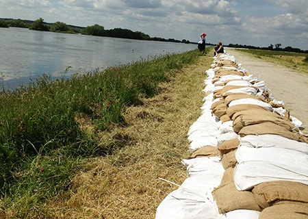 sandbags are heavy, expensive, difficult to transport and arrange. sandbag alternatives are preferred