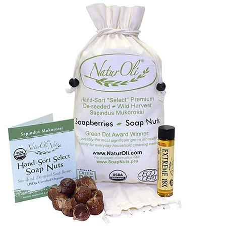 soap nuts make a great alternative when you don't have laundry detergent and last much longer