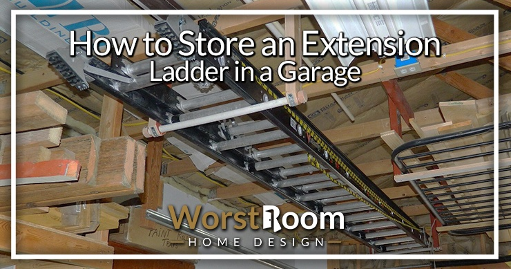 how to store an extension ladder in a garage