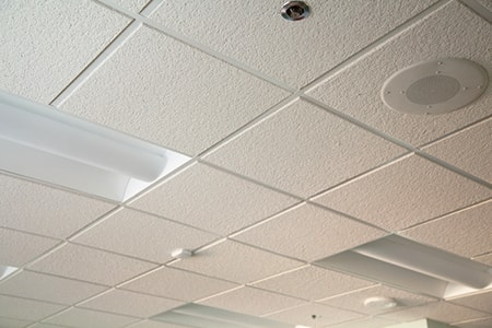 acoustic tiles on ceiling