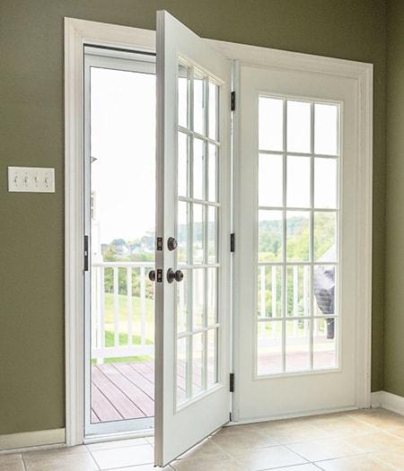 center swing patio doors are perfect sliding glass door alternatives