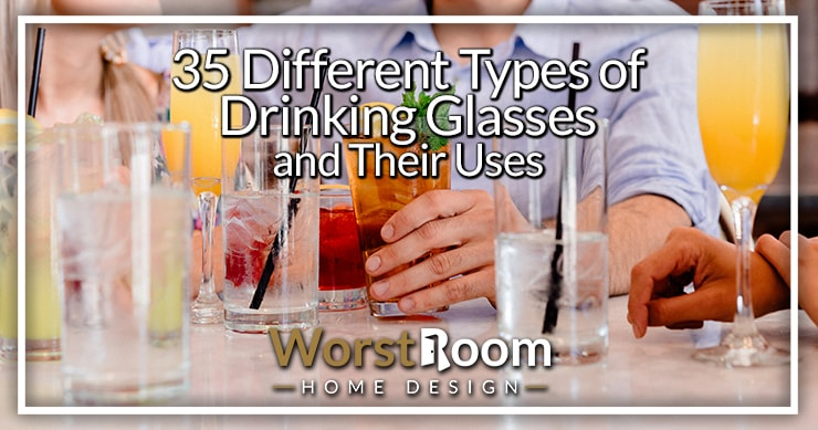 different types of drinking glasses