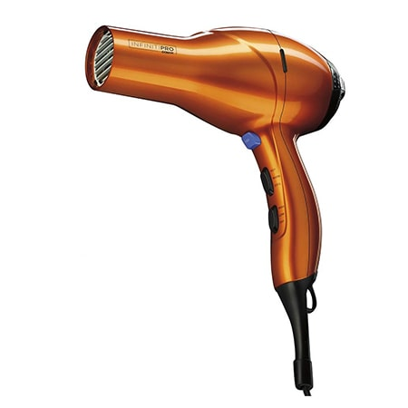 a hair dryer is a perfect clothes wringer alternative to quickly dry a wet piece of clothing