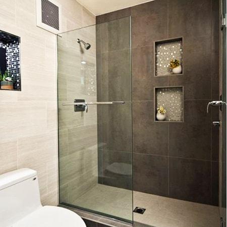 partial shower doors