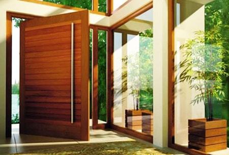 pivot doors are great alternatives to sliding glass doors