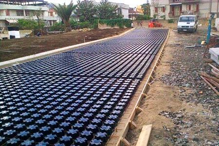 plastic waste in concrete