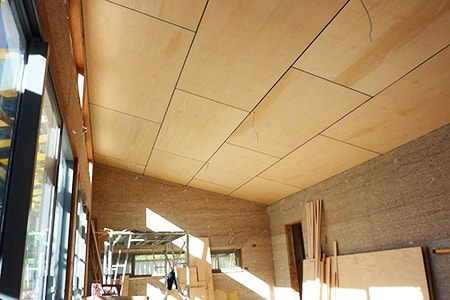plywood as one of the drop ceiling alternatives