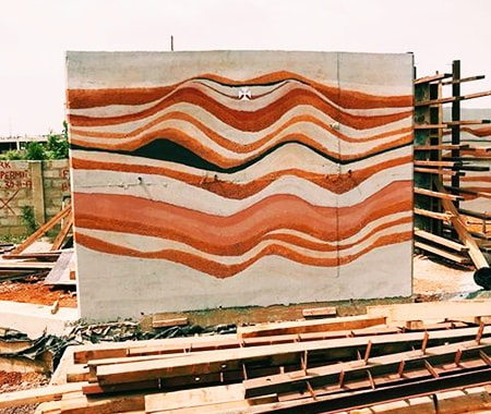 rammed earth replaces concrete