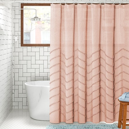 shower curtains are the most common glass shower door alternatives