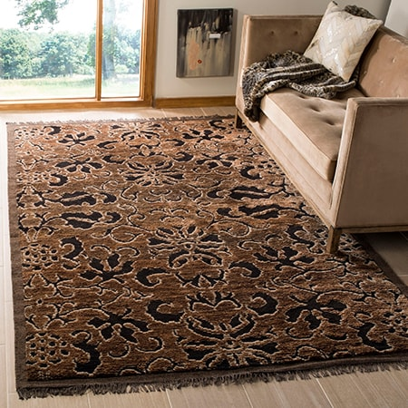 silk rugs and viscose rugs are very sophisticated, expensive, and take extra effort in order to maintain and clean.
