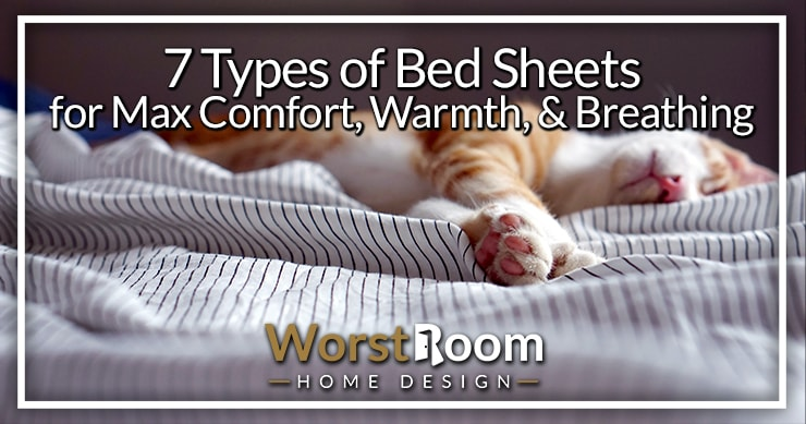 types of bed sheets