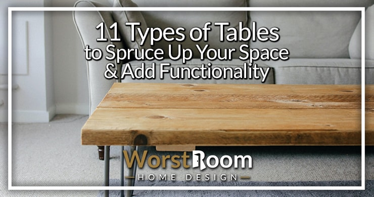 types of tables