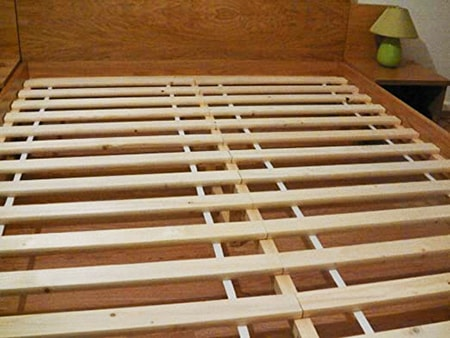 under-mattress wood slats are a perfect alternative to box springs
