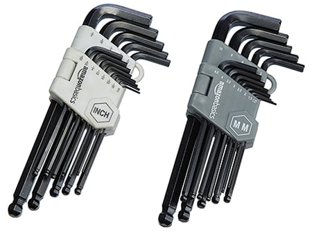allen wrenches are often called allen keys or hex keys due to how they fit into a bolt head like a screw driver would