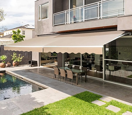 Awnings can be easily installed on the side of your home to park your cars under like you would with a garage
