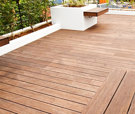 bamboo is a great wood substitute for decking