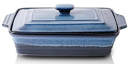 ceramic casserole dishes are the perfect dutch oven substitute if they have a lid