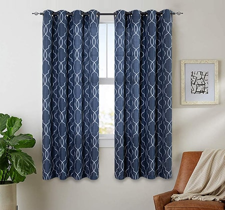 casual curtains are basic and friendly