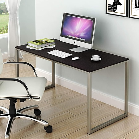 computer desks typically will have drawers and slide out platforms for keyboards