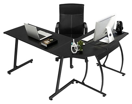 corner desks are the best type of desk to use if you need to preserve space in your office but you need a lot of desktop space
