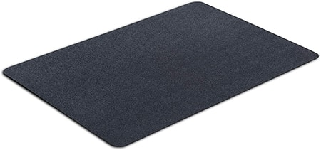 durable mats don't act as a pedestal so much as protect from spills and reduce vibrations on your washer and dryer