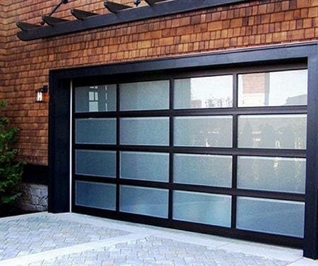 faux wood and fiberglass garage doors are the perfect replacement and end up looking a lot better